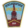 Highspire Borough Police Department Badge