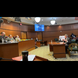 DA Chardo address Board of Commissioners