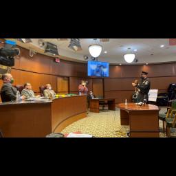 Director Martin addresses Board of Commissioners