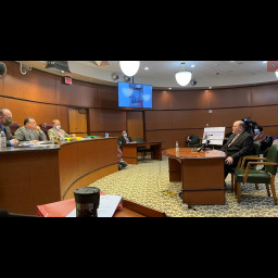 Director Reider addresses Board of Commissioners